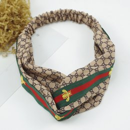 Wholesale Designer Silk Cross Elastic Women Headbands Fashion Luxury Girls Flowers Hair bands Scarf Hair Accessories Gifts Hot Sale Best Headwraps