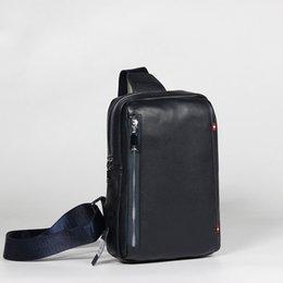 $enCountryForm.capitalKeyWord Australia - Men's Solid Color Leather Chest Top Layer Leather Deer Pattern Shoulder Bag Messenger Personality Trend Wild Style Brush Bag Spot