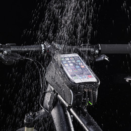 "$enCountryForm.capitalKeyWord NZ - ROCKBROS MTB Bike Bag 6"" Touchscreen Bicycle Frame Saddle Bag Cycling Top Waterproof Tube Bag Phone Case Bike Accessories"