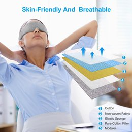 eye fatigue Canada - Relieve Fatigue Eye Light Blocking Mask Cotton 3D Sleeping eye mask Travel Rest Aid Light Blocking Cover