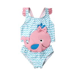 whale baby clothing 2020 - 2020 Brand New Toddler Kids Baby Girl 3D Whale Swimwear One -Piece Cartoon Swimsuit Beachwear Bathing Suit Swimming Clot