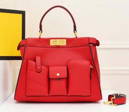 $enCountryForm.capitalKeyWord Australia - designer luxury handbags shoulder crossbody bags fashion lady F letter rivet women purse artwork cowhide genuine leather