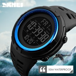 Men Digital Wrist Watches Australia - SKMEI Waterproof Mens New Fashion Casual LED Digital Outdoor Sports Watch Men Multifunction Student Wrist Watches C19010301