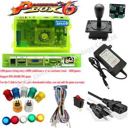 arcade game box NZ - Game box 6 1300 Games Set DIY Arcade Kit Push Buuttons Joysticks Arcade Machine 2 Joysticks DIY Kit Bundle Home