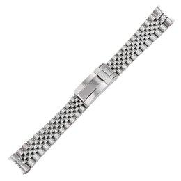 Toptan satış 20mm 316L katı paslanmaz çelik Yedek Bilek Watch Band kordonlu saat Kayışı Bilezik Jubilee Ile Oyster Toka Usta II Için
