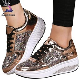$enCountryForm.capitalKeyWord NZ - Dress Shoes Women's Ladies Wedges Sneakers Sequins Shake Fashion Girls Workout Woman 2019 New Women Zapatos Mujer