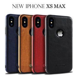 leather stitch iphone case 2019 - For Iphone Xr Xs Max 6 7 8 X Plus Business Leather Stitching Pattern Phone Case Particle Edge TPU Soft Cell Phone Case c