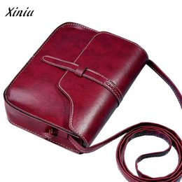 wine bag messenger 2019 - Leather Bag for Women Vintage Wine Leather Mini Shoulder Solid Color Messenger Bag bolsa de mensajero #7111 cheap wine b