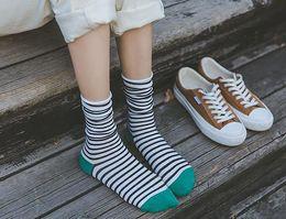 $enCountryForm.capitalKeyWord Australia - Fashion Womens Stripe Colorful Pile Heap Long Socks Teen Stocking Casual Cozy Soft Stylish Cotton Mid Tube Socks Hosiery