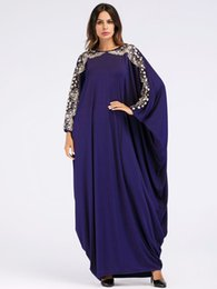 $enCountryForm.capitalKeyWord NZ - Long Muslim Dress Bat-wing Sleeve Loose Islamic Abayas Dubai Women Spring Autumn Clothing Turkish Kaftan Turkey Arab Robe 2019