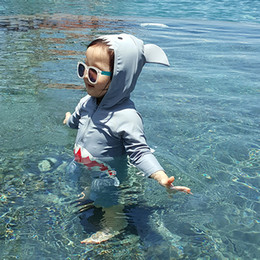 $enCountryForm.capitalKeyWord Australia - Children Swimsuit Baby Boy Swimwear Animal Sharks Swimsuit Infant Baby Bathing Suit Swimming Pool Clothing Uv Protection Suit