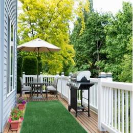Indoor Outdoor Artificial Turf Yard Area Rug Fake Green Grass Carpet Backyard Mat Garden Courtyard Park Lawn LLA99