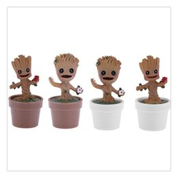 Mini tree pots online shopping - Garden Flowerpot Baby Tree Flower Pots Figure Toys Planter Pot Home Office Groot Decoration Home Supplies Mini Gift