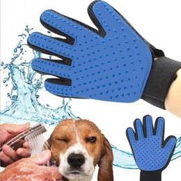 dog grooming tables wholesale NZ - Silicone Pet Dog brush Glove Deshedding Gentle Efficient Pet Grooming Glove Dog Bath Cat cleaning Supplies Pet Glove Hair Remove