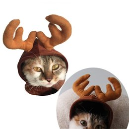$enCountryForm.capitalKeyWord Australia - Super Funny Suit For Pet Cat Costumes Animal Clothing Dog Clothes For Cats Cosplay Pets Products Elk Hat Christmas Xmas special