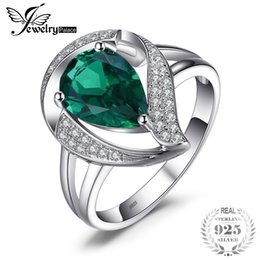 $enCountryForm.capitalKeyWord Australia - Jewelrypalace Ring For Women Created Emerald Rings 925 Sterling Silver Fashion Wedding Gift Girl Friends Lovers J190612