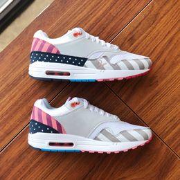 d9ee24f075 Brand New Designer Piet Parra 1 Blue White Multi Running Shoes Rainbow Park  Men Shoes 2019 Womens Sport Sneakers Size 36-44