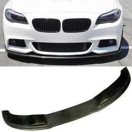 carbon fiber front lip NZ - HA Style Carbon Fiber Front Lip Spoiler F10 5-Series MTech Msport Bumper Fir For BMW