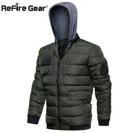$enCountryForm.capitalKeyWord Australia - ReFire Gear Men Winter Hoodie Jacket Warm Padded Pilot Jacket Casual Hat Removable Hooded Outerwear Parka Coat for Man
