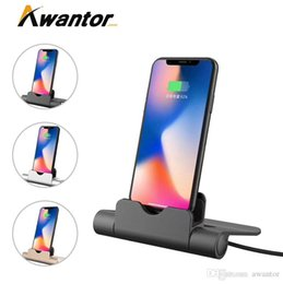 Wholesale Awantor Stereo Bracket Portable Charger Interfaces Stand Pad Charger Colors For Samsung Pad Cell Phone