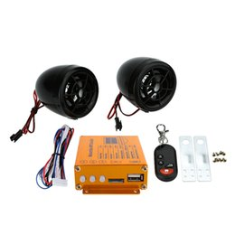 Remote alaRms online shopping - KKmoon Motorcycle Speakers Audio Sound System FM Radio Security Alarm Wireless Remote with USB SD Slot Motorcycle Mutilmedia