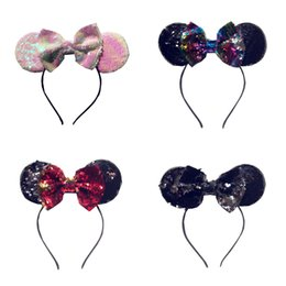 christmas sequins NZ - Children Christmas colorful sequins party hair sticks girls sequins Bows princess hairbands kids cartoon animal ear hair accessories F2854