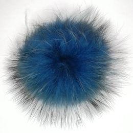 $enCountryForm.capitalKeyWord UK - Factory price high quality real raccoon fur pompom raccoon fur ball keychain keyring attachment beanie detachable pompons ball