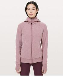 Wholesale Women Scuba Hoodie Clothes Yoga Sports Long Sleeve T Shirts Lu u emon Gym Shirts