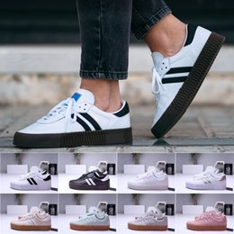 Black White Pink Rose Australia - Men Samba rose Gazelle Classic shoes high quality green Black Blue red pink white Women's Lightweight Student Casual Shoes Size 36-44