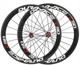 Discount 24 bicycle wheelset 700C carbon bike clincher wheels basalt brake surface road bicycle wheelset 50mm ceramic hub