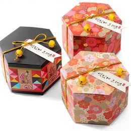 Chinese New Year Gift Pack Australia - 50pcs Chinese New Year Gift Box Hexagon creative paper candy boxes Packaging Boxes Packing for Biscuit Chocolate