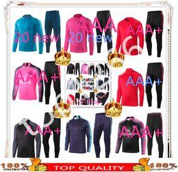 Mens tracksuit xl online shopping - 19 new psg Mens Tracksuit Real Madrid Sets soccer Tracksuit Sets jacket MBAPPE survetement psg POGBA Football Training suit