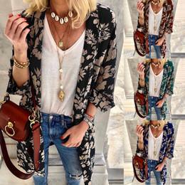 Blue Cotton Cloak Australia - Summer New Digital Printing Cloak Coat Sun Protection Clothing Women Tops 4 Color