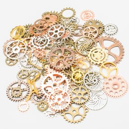 $enCountryForm.capitalKeyWord NZ - 100g bag Mixed Steampunk Clock & Gear Charms fit Diy Fashion Accessories Gear Pendant Charms for Jewelry Making