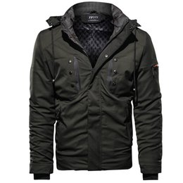 $enCountryForm.capitalKeyWord Australia - Autumn Winter Coat Mens Jackets And Coats Outwear Warm Windproof Hood Men Jacket Casual Multi-pocket Parkas Men Quilted Jacket
