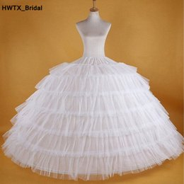 tiered petticoat Australia - Long Puffy Ball Gown 6 Hoops Petticoats 2018 Tiered Ruffles Skirt Underskirts Petticoat For Party Wedding Quinceanera