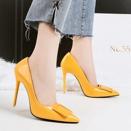 $enCountryForm.capitalKeyWord Australia - Shoes Women Sexy Fetish High Heel Pumps Yellow Heels Scarpin Female Party Prom Elegant Office Lady Dress Leather