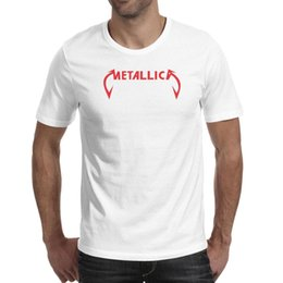 $enCountryForm.capitalKeyWord UK - Men tshirts heavy metal band Metallica red logo Tees Cotton Casual Fashion Shirt