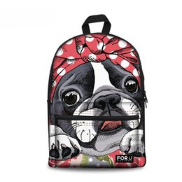 girls backpacks for school dog 2019 - Customized Boston Terrier Women School  Bag For Teenager Girl 5b6466d4f8f23