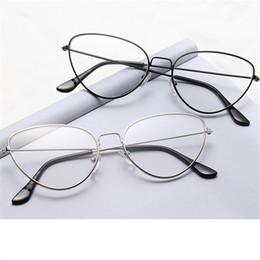 ffba40ea29 Stainless Steel Eye Frames Australia - XojoX Women Metal Cat Eye Glasses  Frame Men Myopia Glasses