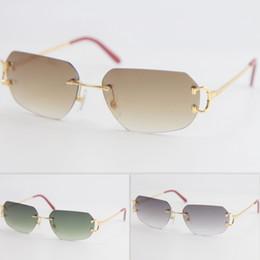 venda por atacado Estilo de metal dos homens sem aro mulheres c decoração óculos de sol frame unisex óculos para verão ao ar livre qualidade viajar óculos moda
