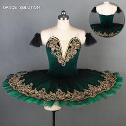 Red Tutu Women Australia - Green Velvet Bodice Pre-professional Ballet Tutu Girl & Women Stage Ballerina Dance Costume Dance Tutu Green Tulle