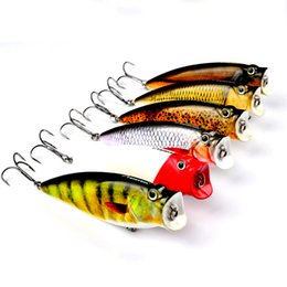 """Discount worm bait - worms 1pc Sunlure Brand 3.74""""-9.5cm Fishing Tackle 16.65g Popper Lure Set 6 Color Fishing Bait 4# Hook"""