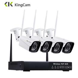 Cctv Wifi Ip Australia - KingCam 4CH 1080P WiFi NVR 4PCS 2MP IR Outdoor Weatherproof CCTV Wireless 1080P IP Camera Security Video Surveillance System Kit