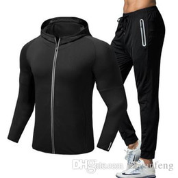 $enCountryForm.capitalKeyWord Australia - Men Tracksuit Set Casual sports pants trousers+thin quick-drying workout hooded jacket Sportwear Suits Long Sleeve fitness S-XXL