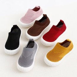 Baby Girl Summer Canvas Shoes Australia - Summer children's single Canvas shoes boys Rubber soft bottom breathable mesh shoes baby hollow mesh shoes girl new
