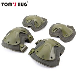 paintball equipment 2019 - Tom's Hug US Army Military Tactical Knee Pads Airsoft Elbow Support Paintball CS Equipment Kneepad War Game Knee Pr