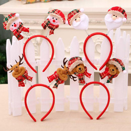 reindeer kids NZ - Hot Christmas Headbands Fancy Reindeer Antlers Hairband Xmas Kids Baby Hairhoop Party Decor Headwear Hot Hair Accessories GiftChristmas Head