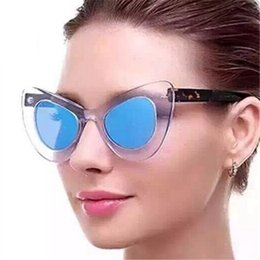 c3626a02c3 XojoX Cat Eye Sunglasses Women Fashion Big Frame Butterfly Sun Glasses  Brand Retro Yellow Glssses Famale Mirror Eyeglasses UV400