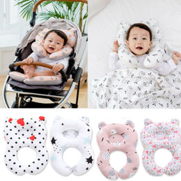 Cute Travel Neck Pillows Australia - Muslinlife Car Seat Head Support Children Pillow Cute Baby Shaping Pillow Memory Foam Travel Neck Protection Dropship